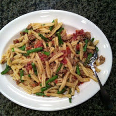 Summer Asparagus, Bacon & Asiago Cheese Carbonara