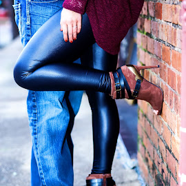 Ooh Baby!  by Sabrina Causey - People Couples ( shoes, fashion, couple, black, couples )