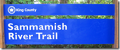 Sammamish River Trail sign