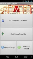 Screenshot of LA Metro: AnyStop