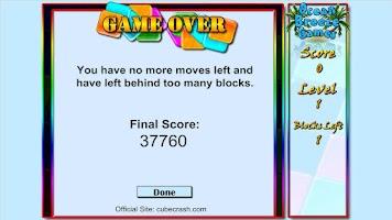 Screenshot of Cube Crash Free!