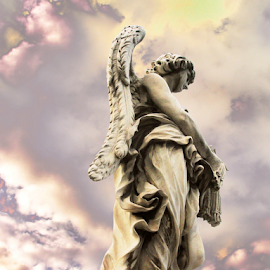 Archangel Michael by Jane Spencer - Artistic Objects Other Objects ( bridge of angels, rome, archangel, michael, italy )