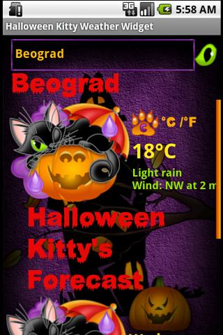 Halloween Weather Widget