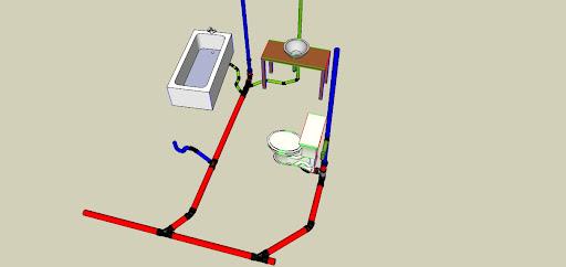 dwv layout assistance terry love plumbing remodel diy rh terrylove com DWV Basics Drain and Vent Installation