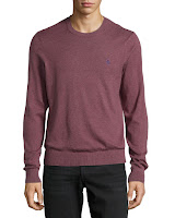 Penguin Jersey Crewneck Sweater, Mauve Wine - (XL)