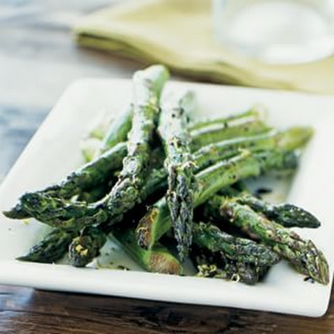 Roasted Asparagus with Balsamic Glaze and Lemon Zest