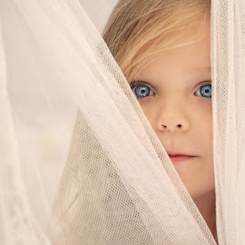 Behind the curtain by Lucia STA - Babies & Children Child Portraits