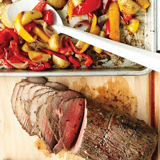 Roast Beef with Peppers, Onions, and Potatoes