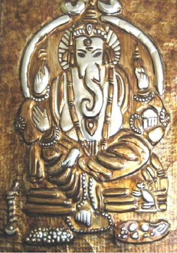Metal Emboss painting-Lord Ganesha