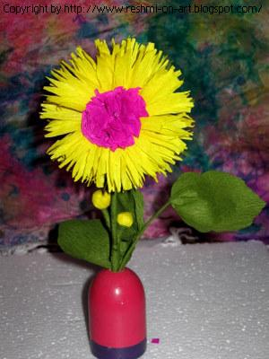 Crape Paper craft-The Sunflower