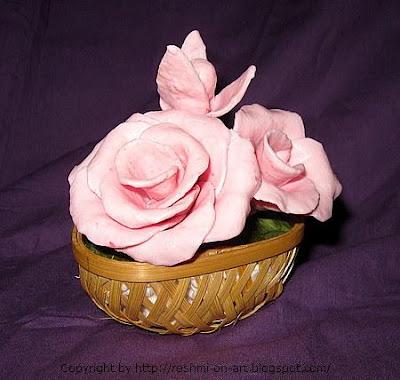Soap Flower-Pink Roses