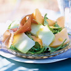Prosciutto and Melon Salad with Cantaloupe Vinaigrette