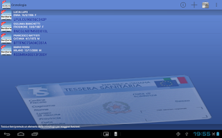 Screenshot of Tessera Sanitaria Italiana