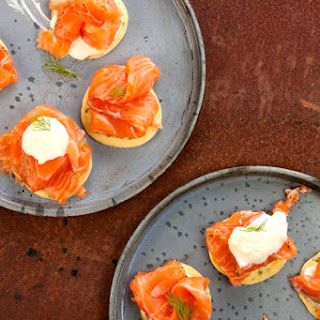 Gravlax with Blinis (Cured Salmon with Thin Pancakes)