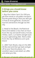 Screenshot of Lisbon Travel Guide