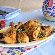 Ligurian Lemon and Olive Chicken - Pressure Cooker