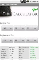 Screenshot of Tire Calculator FREE