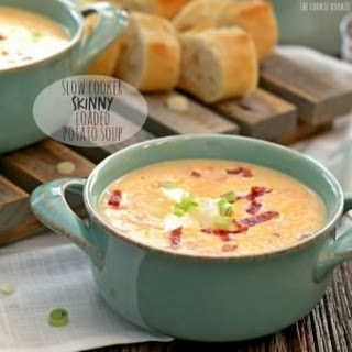 Slow Cooker Skinny Loaded Potato Soup