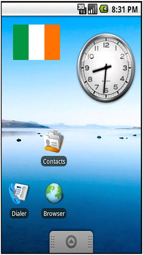 Ireland Flag Sticker Widget