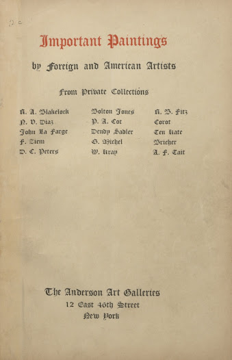 Gilded Age collectors also supported the American artists in their midst.