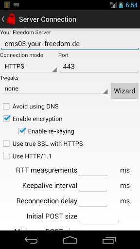 Your dom VPN Client - screenshot