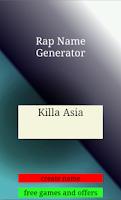 Screenshot of Free Rap Name Generator