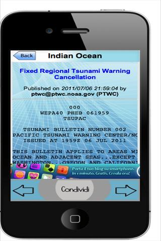 Tsunami and Marine alerts