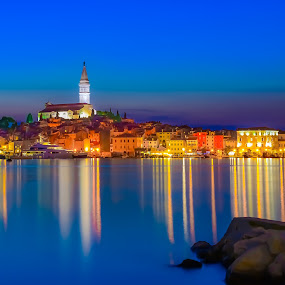 Old Town, Rovinj  by Marcin Frąckiewicz - City,  Street & Park  Historic Districts ( old town, rovinj, city, night,  )