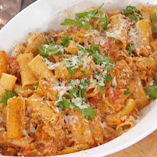 Rigatoni Oreganata with Tomato Sauce and Bread Crumbs