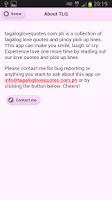 Screenshot of Tagalog Love Quotes