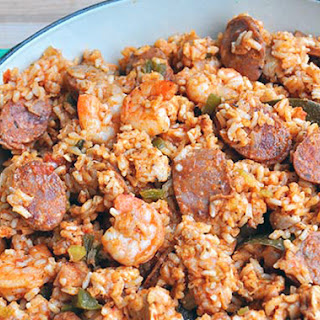 Chicken, Andouille, and Tasso Jambalaya