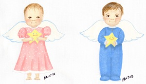 Star Angel Baby Ornaments