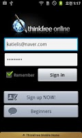 Screenshot of ThinkFree Office Mobile