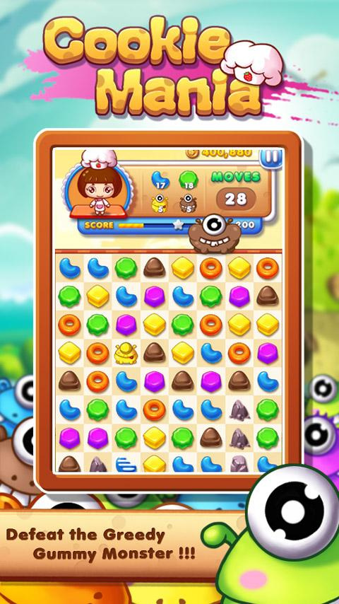 Cookie Mania - Halloween Sweet Game Screenshot 1