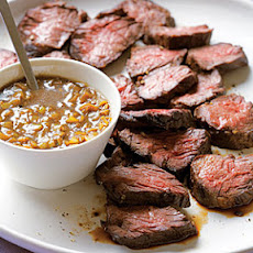 Hanger Steak with Green-Garlic Sauce