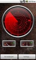 Screenshot of Radar Clock LiveWallpaper