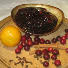 Spiced Cranberry Sauce with Zinfandel
