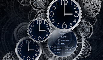 Screenshot of Black Clock Live Wallpaper HD