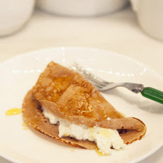 Chestnut Flour Crepes (Necci) with Ricotta and Honey