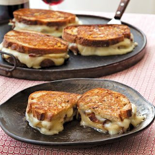 Taleggio Grilled Cheese with Bacon and Honey Crisp Apples