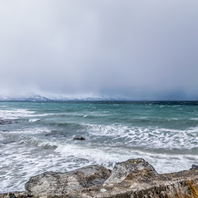 stormy weather by Benny Høynes - Landscapes Weather ( water, waves, blows, storm, norway )