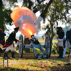 Come and Take It by Emily Harrison - City,  Street & Park  Historic Districts ( reenactment, historic district, sunburyga, fort morris, cannon )