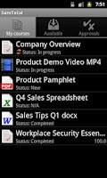 Screenshot of SumTotal Mobile