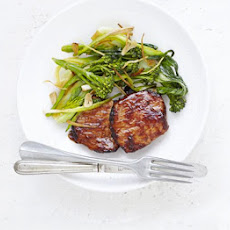 Hoisin Pork With Garlic & Ginger Greens