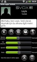 Screenshot of SVOX Turkish/Türk Leyla Trial