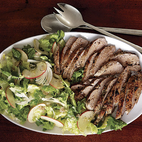 Fennel-Rubbed Pork Tenderloin with Escarole and Apple Salad