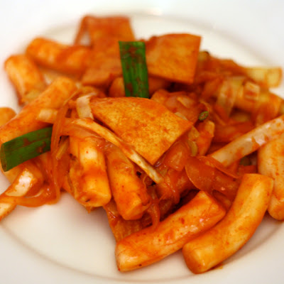 Stir Fried Rice Cake with Gochujang Sauce