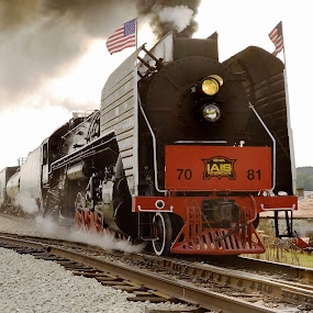 Excursion Steam Locomotive by Stephen Beatty - Transportation Trains