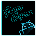 GOKeyboard Theme Glow Cyan icon