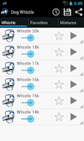 Screenshot of Whistle dog training